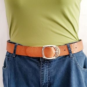 Lucky Brand Paisley Leather Belt,  Size S